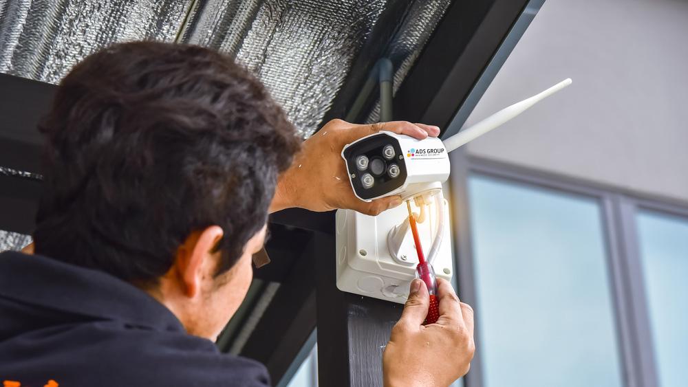 installation caméra de surveillance